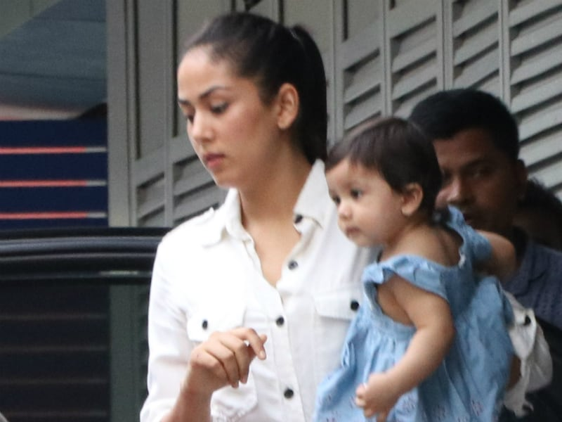 Baby's Day Out: Misha Spotted With Mommy Mira