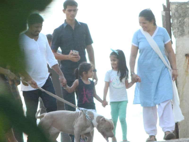 Akshay Kumar's Daughter Nitara Enjoys Evening Walk With Friend