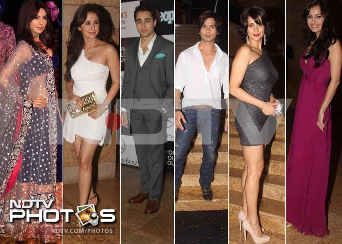 Priyanka, Shahid at India's Best Dressed party