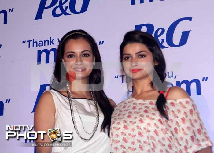 Prachi Desai and Dia Mirza celebrate Mother's Day