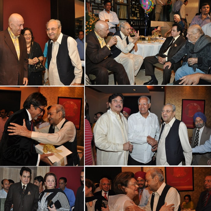 Big B, Dilip Kumar, Shammi Kapoor @ Pran's b'day party