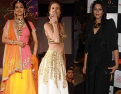 Photo : Fashion stars: Juhi, Kalki, Nagma