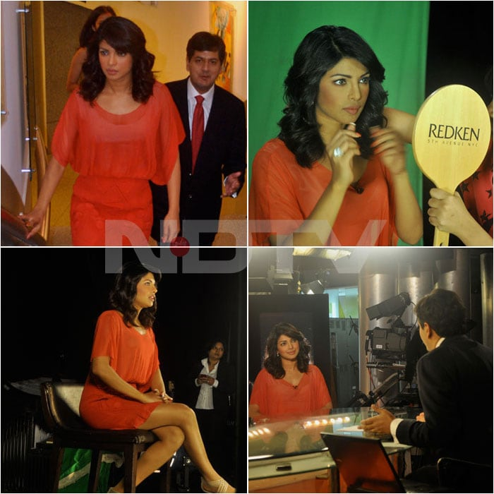 Priyanka's day out at NDTV