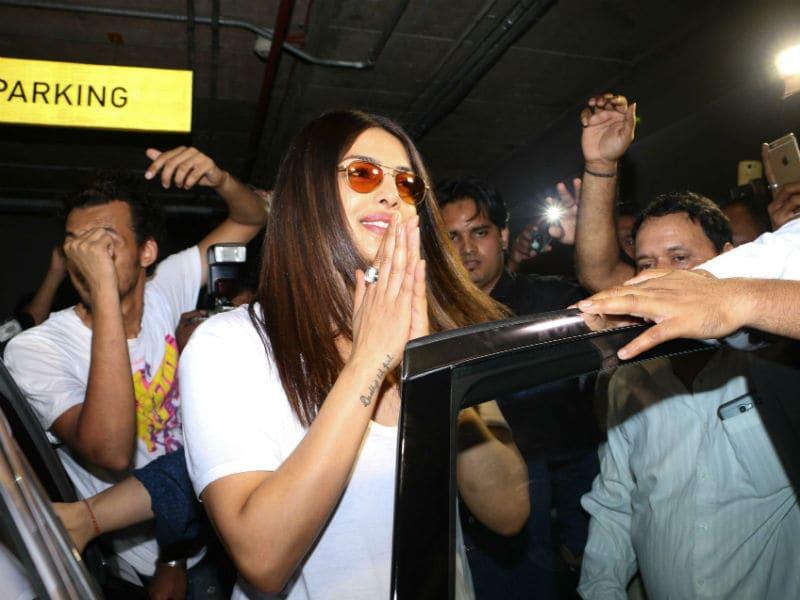Priyanka Chopra's Peek-a-Boo With Paparazzi