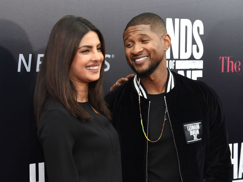 Priyanka Chopra Can't Stop Giggling at Usher's Film Premiere