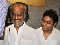 Photo : Rajinikanth sings for Kochadaiyaan