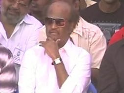 Photo : Rajinikanth, other stars join strike for Sri Lankan Tamils