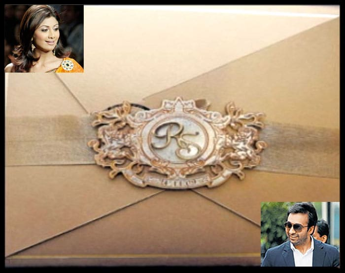 Shilpa, Raj's wedding card