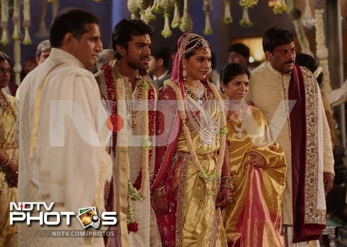 Big B, Rajini attend Ram Charan Teja's wedding