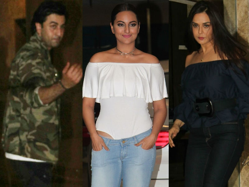 Ranbir, Sonakshi And Preity Party Together