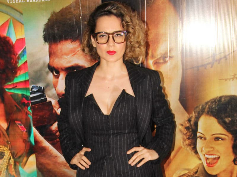 Kangana Ranaut Suited Up For Rangoon Screening