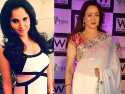 Photo : In White: Hema Malini is a Dream Girl, Sania Mirza is Chic