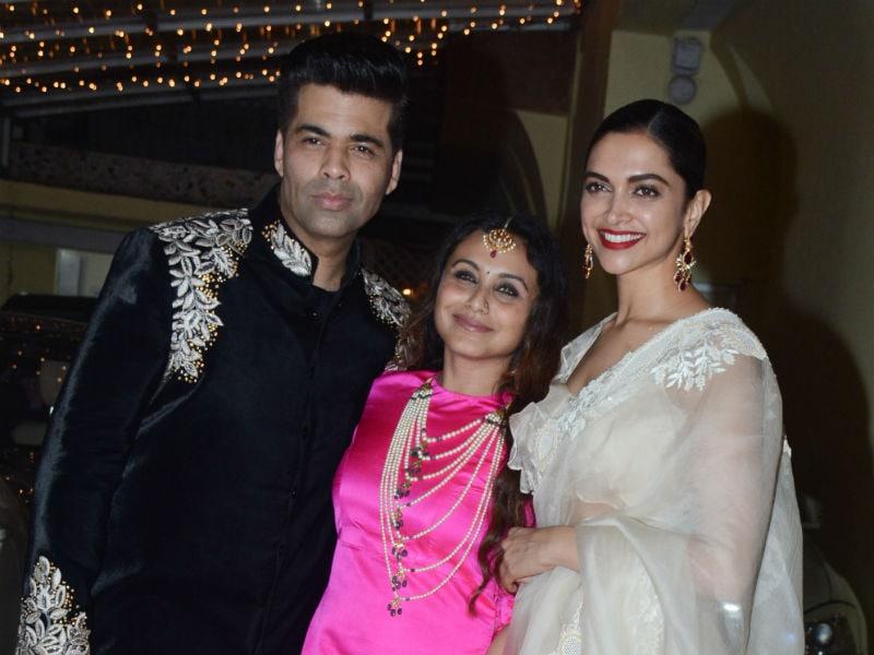 Rani Mukerji, Deepika Padukone, Karan Johar's Sweet Diwali Bash