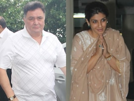Rishi Kapoor Attends Prayer Meet For Raveena Tandon's Father-in-Law