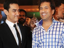 Photo : The grand pic: Aamir and Sachin on camera