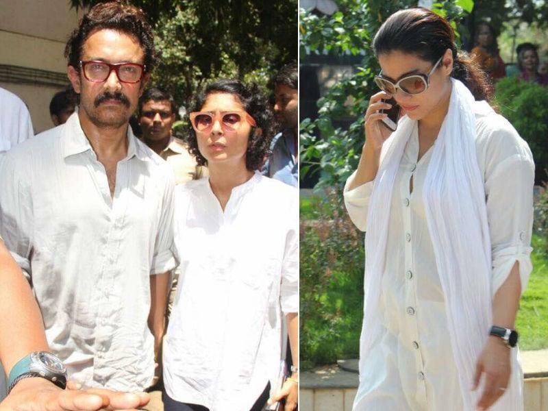Aamir Khan, Kajol, Rishi Kapoor Bid Adieu To Reema Lagoo