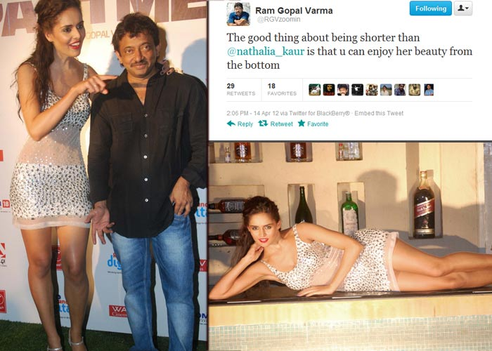 Tweet-in-mouth RGV gets inappropriate with Nathalia