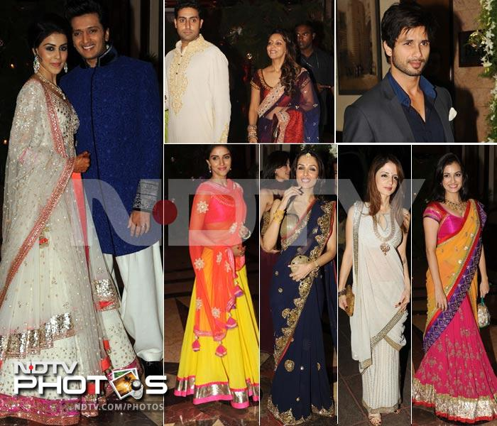 Dressed in their best, stars at sangeet