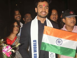 Mr World Rohit Khandelwal Returns Home