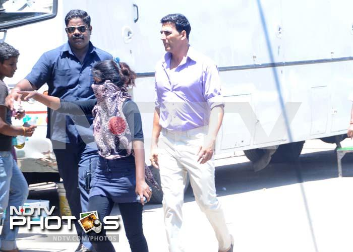 On the sets: Akshay shoots for Oh My God
