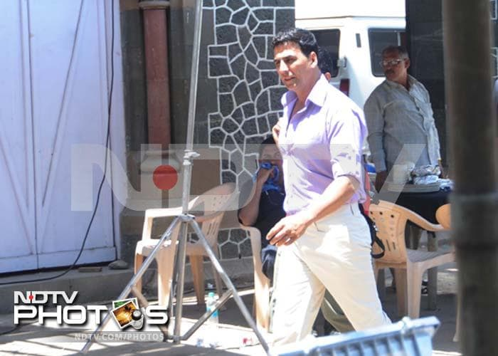 Akshay, Sonakshi shoot Rowdy Rathore