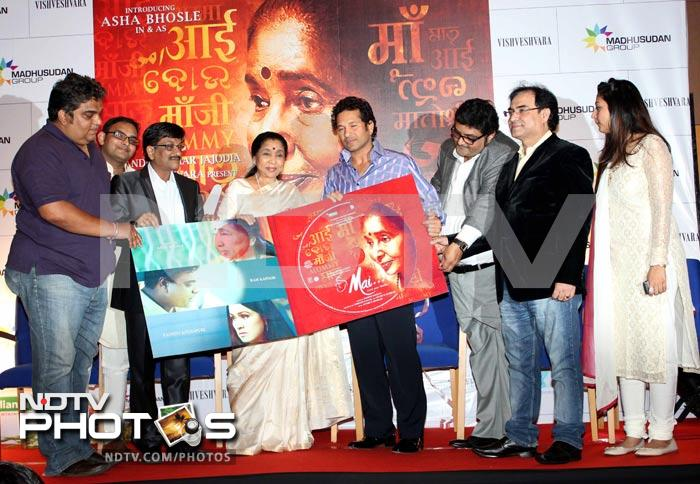Sachin's musical date with Asha Bhosle