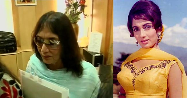 Then and now: Sadhana's rare public appearance