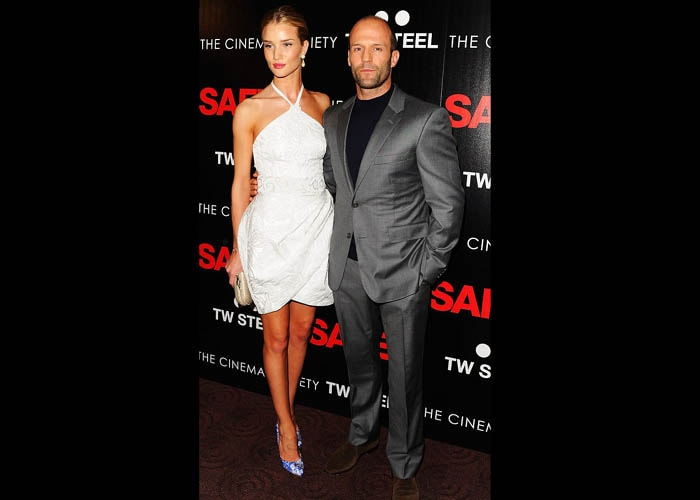 Rosie Huntington-Whiteley and Jason Statham at Safe premiere