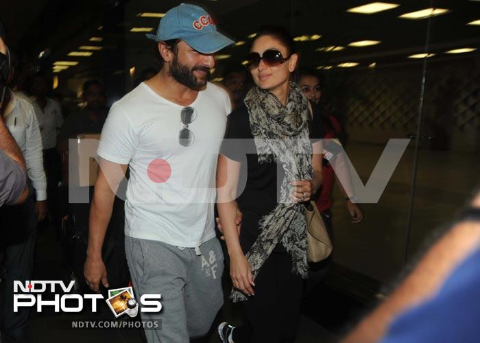 Frequent flyers Saif, Kareena are home again