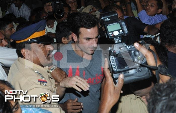 Saif in a brawl: Story in pics