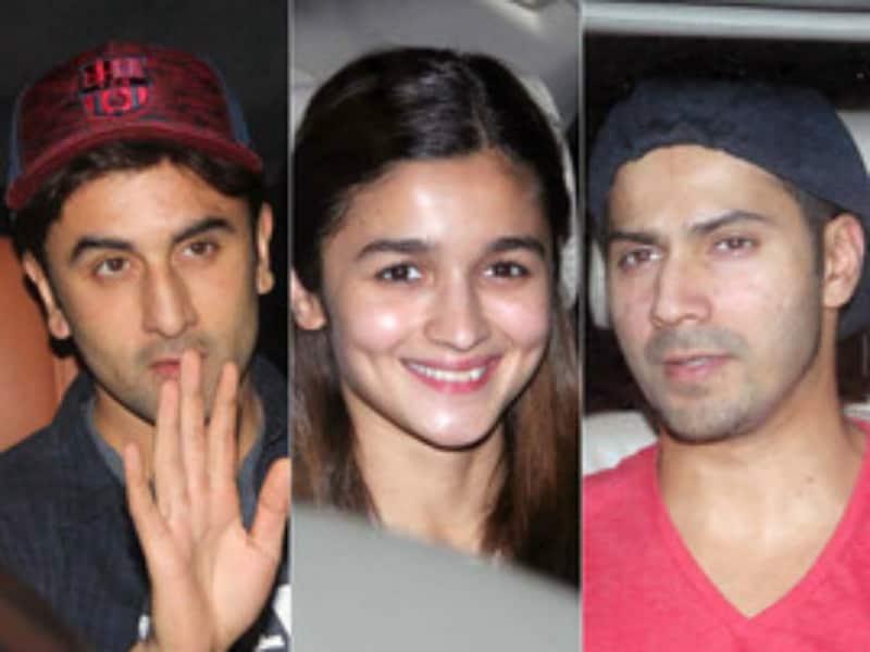 Ranbir, Alia, Varun Turn up for Sairat Screening