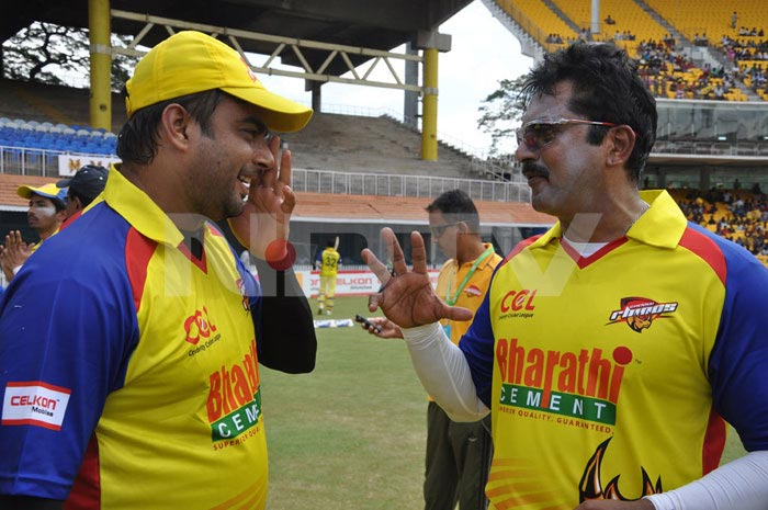 Madhavan, Suriya at Celebrity Cricket League