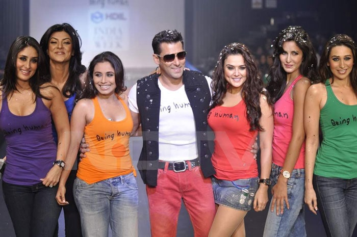 B'wood beauties share the ramp for Salman