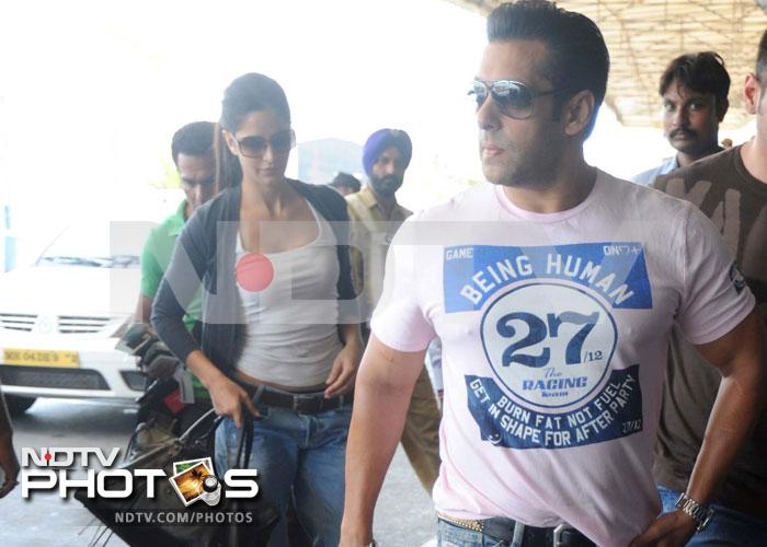 Salman, Katrina leave for Bangkok together