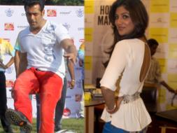 Photo : Bend it like Salman, Shilpa's style goal