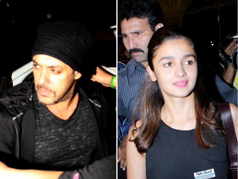 IIFA Calling: Salman and Alia Spotted at the Airport