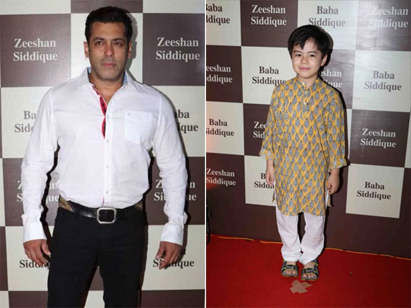 Tubelight Stars Salman And Matin Light Up Baba Siddique's Iftaar Party