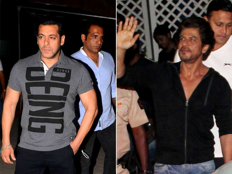 Khan's Night In Mumbai: SRK, Salman Spotted At Work