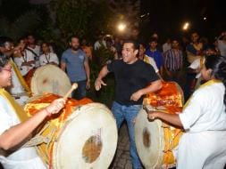 Photo : Salman, Daisy, Huma Dance for Bappa