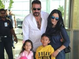 Photo : Sanjay Dutt and His Picture Perfect Family at the Airport