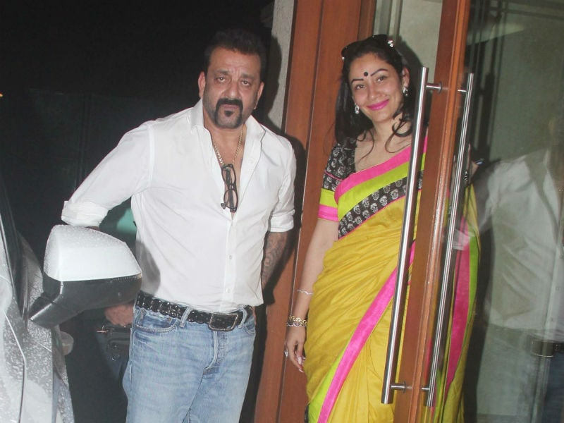 Dress Code: Couple-Style, Seen On Sanjay-Maanyata
