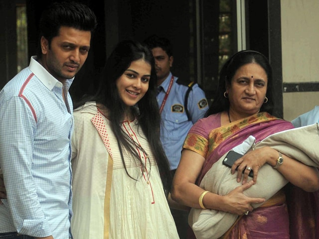 Riteish Deshmukh, Genelia Bring Their Son Home