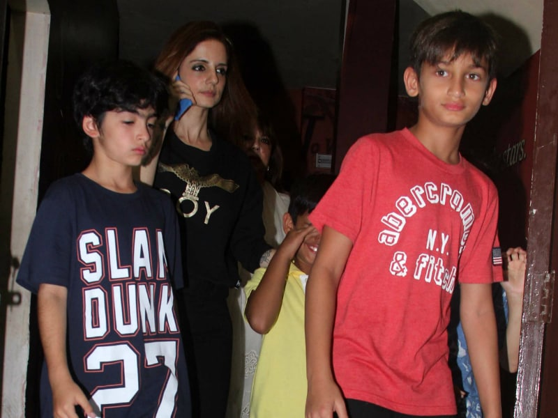 Sussanne Khan's Movie Date With Sons Hrehaan And Hridhaan