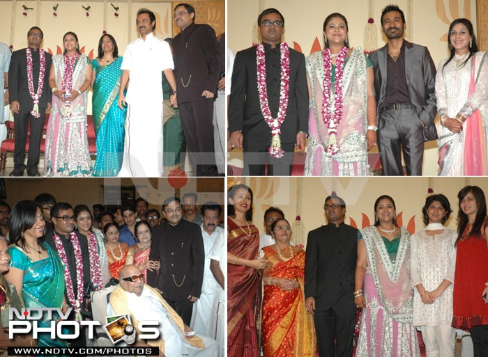 Dhanush, Aishwarya at family wedding