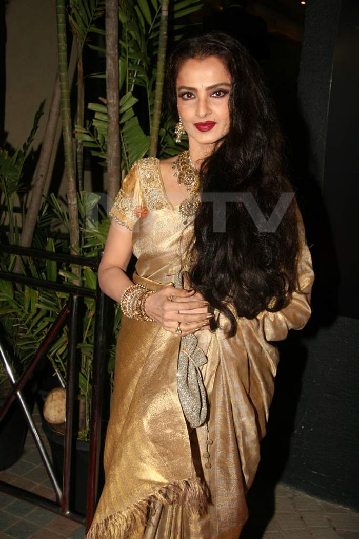 Rekha, Big B at Shabana's birthday gala