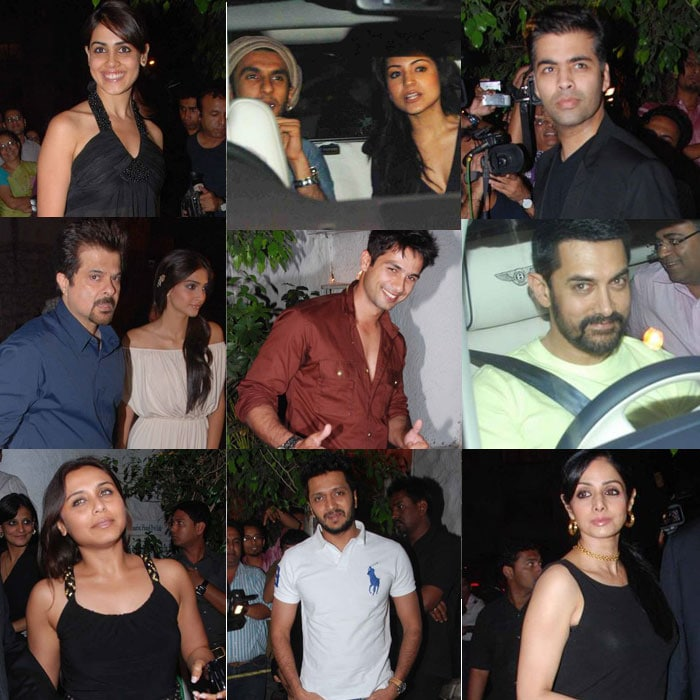 Sonam, Anushka, Ranveer at Shahid's Birthday Bash