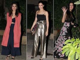 Deepika, Katrina, Alia At Shahid Kapoor's Pre-Birthday Bash