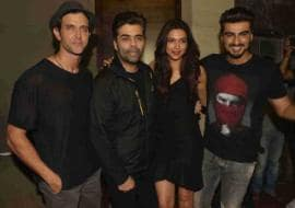 Photo : Hrithik, Karan Are Also Finding Fanny With Deepika, Arjun