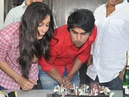 Photo : Sudhir Babu, Regina celebrate the success of SMS