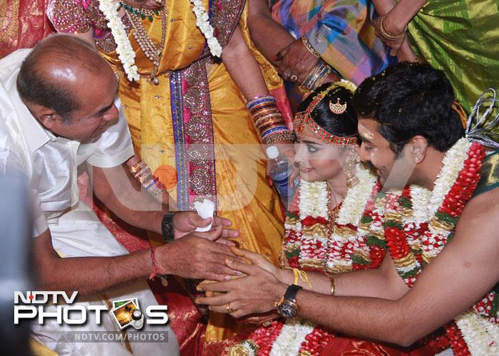 Just married: Sneha and Prasanna